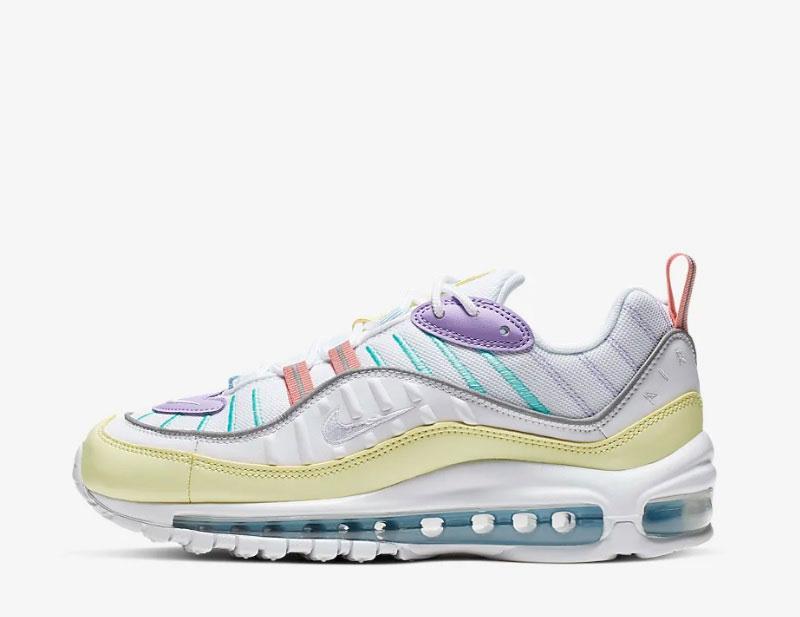 Nike Air Max 98 W schoenen wit lila geel