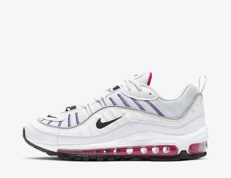 Nike air max 98 dames sneakers witpaars 01 vind je in