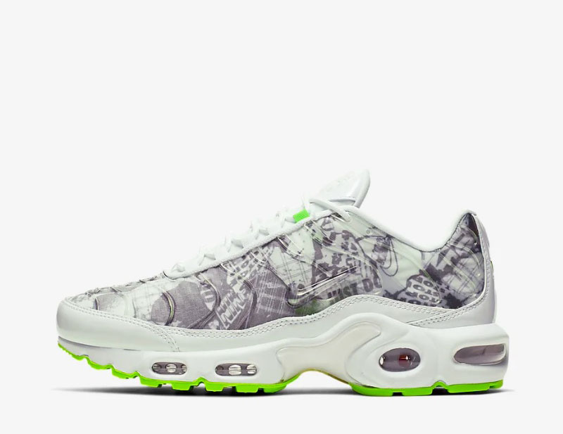 Nike air max plus lx dames sneakers wit/grijs