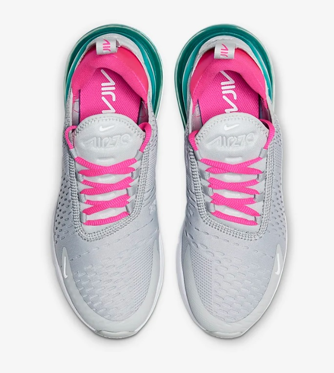 nike air max grijs roze wit