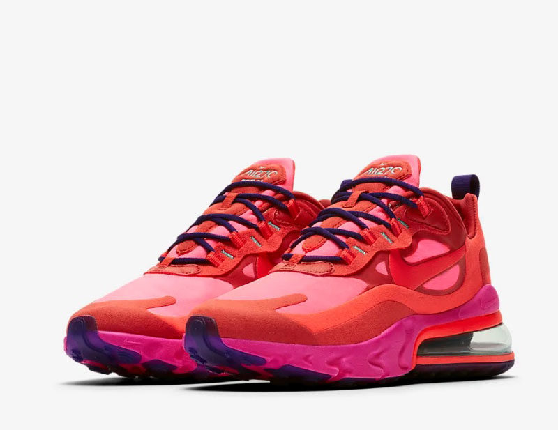 Nike air max 270 react dames sneakers rood/roze
