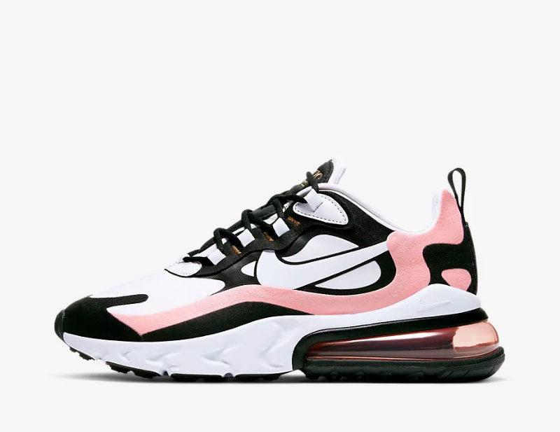 Nike air max 270 react dames sneakers wit/roze