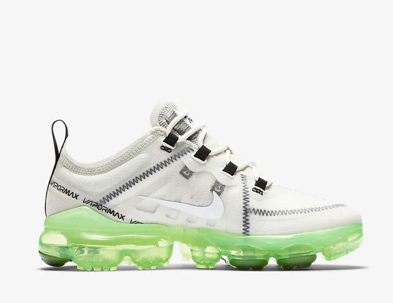 Nike Air VaporMax 2019 dames sneakers wit/groen