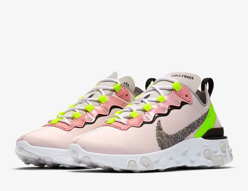 Nike react element 55 premium dames sneakers rozewit