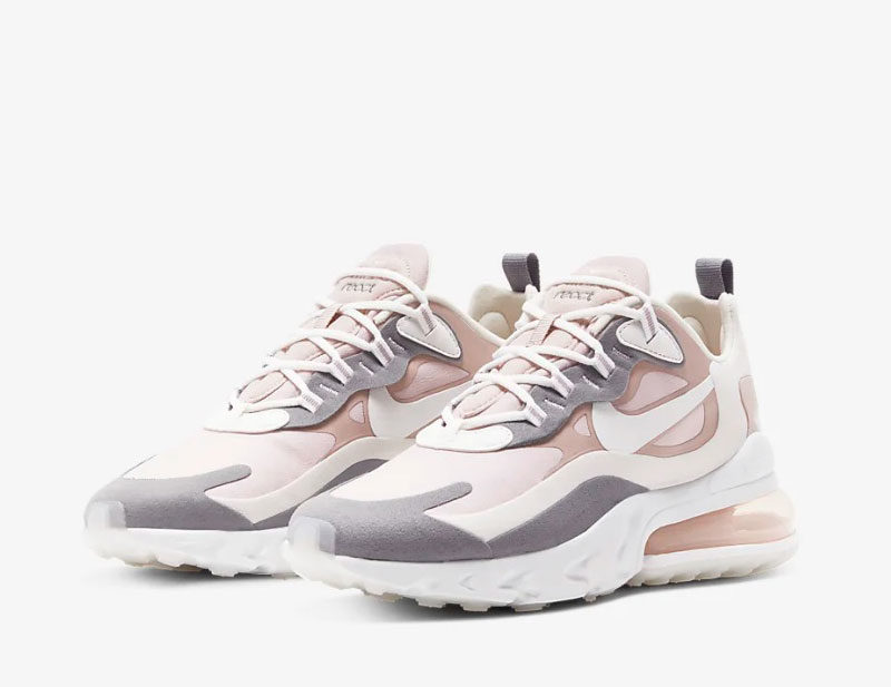 Nike air max 270 react dames sneakers wit/grijs