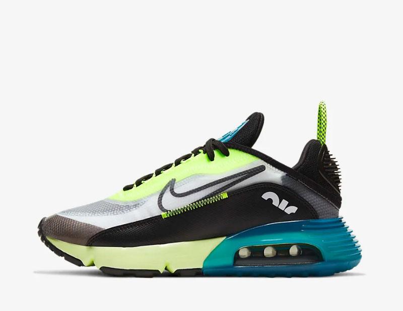 Nike air max 2090 sneakers zwartgeel 02