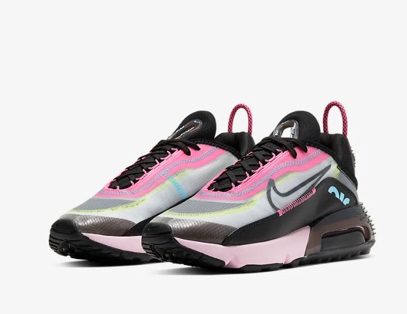 Nike air max 2090 dames sneakers zwartroze